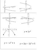 Domain & Range of Quadratics Matching