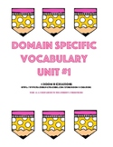 Domain Specific Vocabulary Activities
