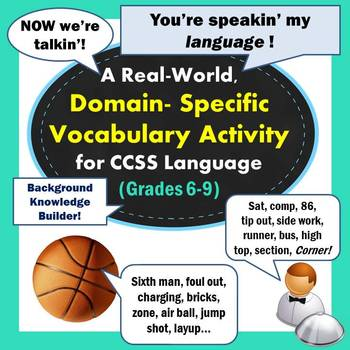 Domain-Specific Vocabulary Activity: You're Speaking My Language!