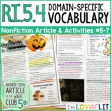 Domain Specific Vocabulary RI.5.4 | The Business of Halloween Article #5-7