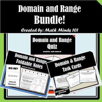 Domain and Range - BUNDLE!