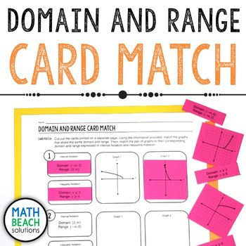 Domain and Range Card Match Activity