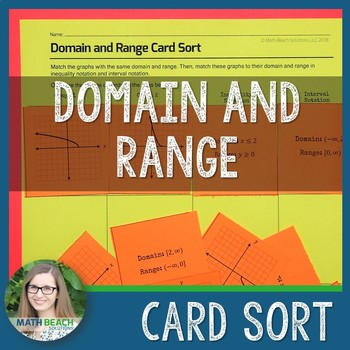 Domain and Range Card Sort