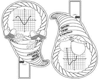 Domain and Range Cornucopia Math Pennant
