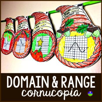 Domain and Range Cornucopia Pennant Activity
