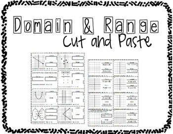 Domain and Range Cut and Paste