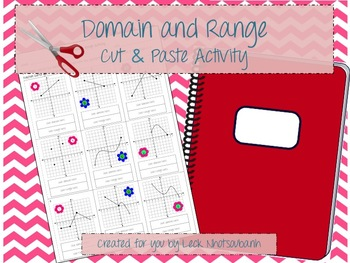 Domain and Range Cut and Paste Activity
