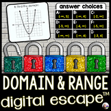Domain and Range Digital Math Escape Room