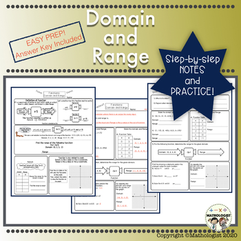 Domain and Range Easy Instruction and Practice