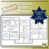 Distance Learning Domain and Range Easy Instruction and Practice