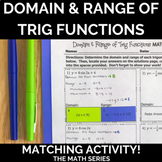 Domain and Range For Trigonometric Functions