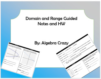 Domain and Range Guided Notes and HW