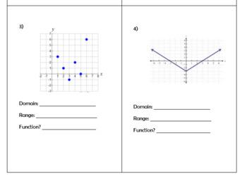 Domain and Range Homework
