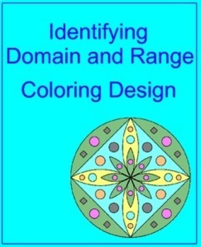 Relations and Functions - Identify the Domain and Range Coloring Activity