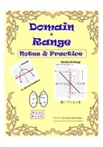 Domain and Range Instructional Practice &  Notes