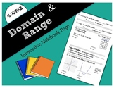 Domain and Range Interactive Notebook Page