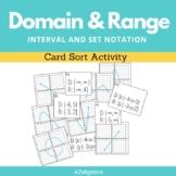 Domain and Range Interval and Set Notation Card Sort