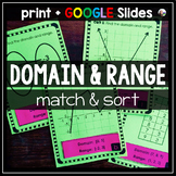 Domain and Range Matching and Sorting Activity w/ GOOGLE Slides
