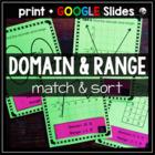 Domain and Range Matching Activity