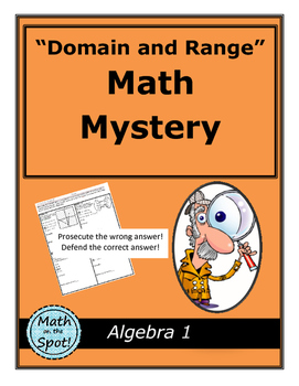 Domain and Range Math Mystery