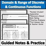 Domain and Range Notes & Worksheet