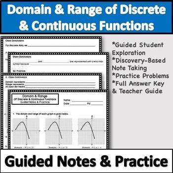Domain And Range Practice Worksheet Teaching Resources Teachers