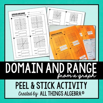 Domain and Range Peel and Stick Activity