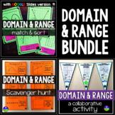 Domain and Range mini-bundle