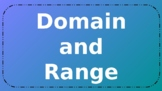 Domain and Range PowerPoint