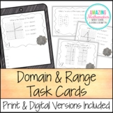 Domain and Range Task Cards