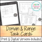Domain and Range Task Cards - PDF & Digital