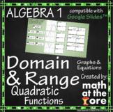Domain and Range - Quadratic Functions - GOOGLE Slides