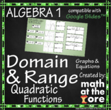 Domain and Range - Quadratic Functions - GOOGLE Slides