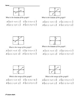 Domain and Range (Quiz)