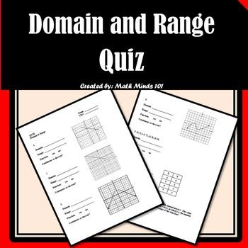 Domain and Range Quiz