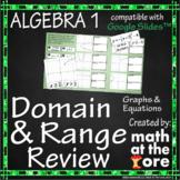 Domain and Range - Review - GOOGLE Slides