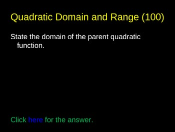 Domain and Range Review Game