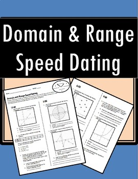 Domain and Range - Speed Dating