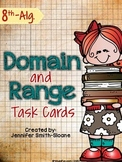 """Domain and Range Task Cards- Color and """"Save Your Ink"""" Versions"""