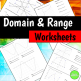 Domain and Range Worksheets