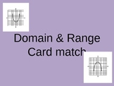 Domain and Range from a graph card Match