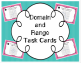 Domain and Range of a Graph Task Cards