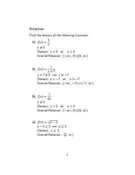 Domain of a function 2