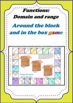 Domain of functions - Around the block In the box game