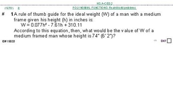 Domains of HS ALGEBRA UNIT: WORD problems (4 worksheets; 7 quizzes