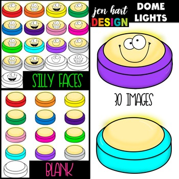 Dome Light Clip Art (Blank and Friendly Faces)