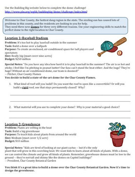 Domes Web Activity-Fact Finder and Problem Solving