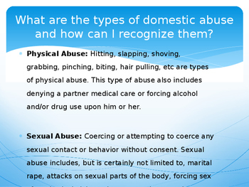 Domestic Abuse (PowerPoint Presentation)