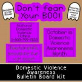 Domestic/Dating Violence Awareness Bulletin Board Kit | Oc