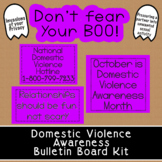 Domestic/Dating Violence Awareness Bulletin Board Kit   Oc